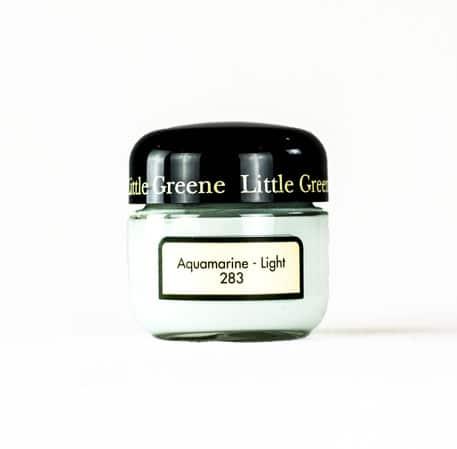 Little Greene Wandfarbe Tester Aquamarine Light 283