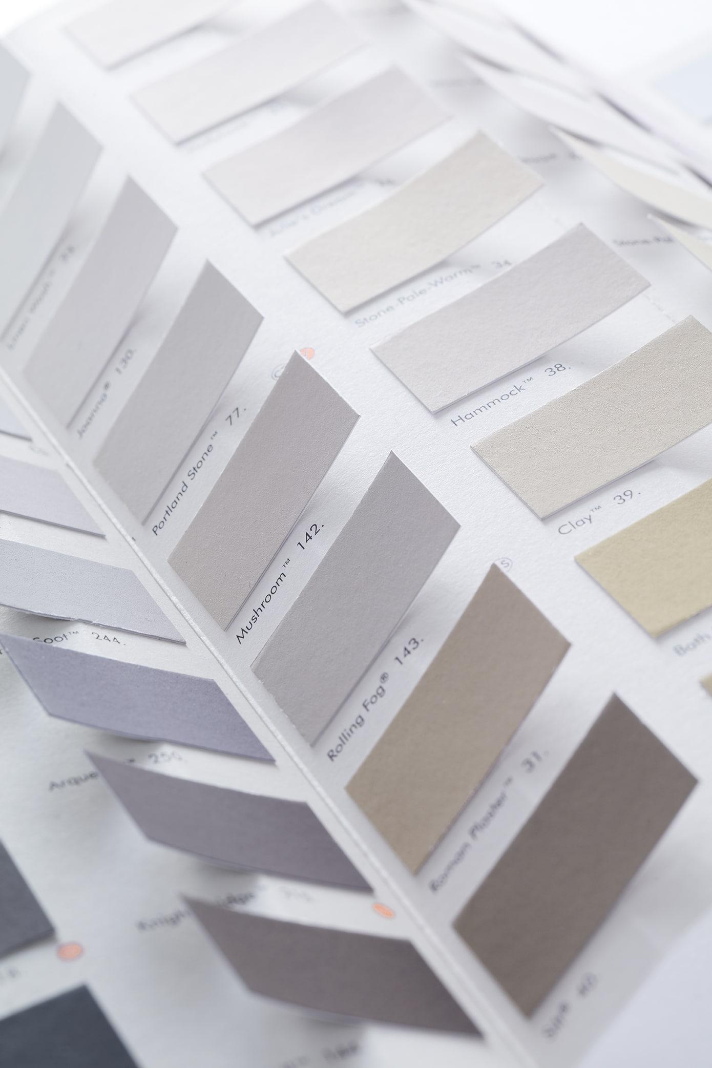 Wandfarbe Wand Sample Grau Hellgrau Braun Blau