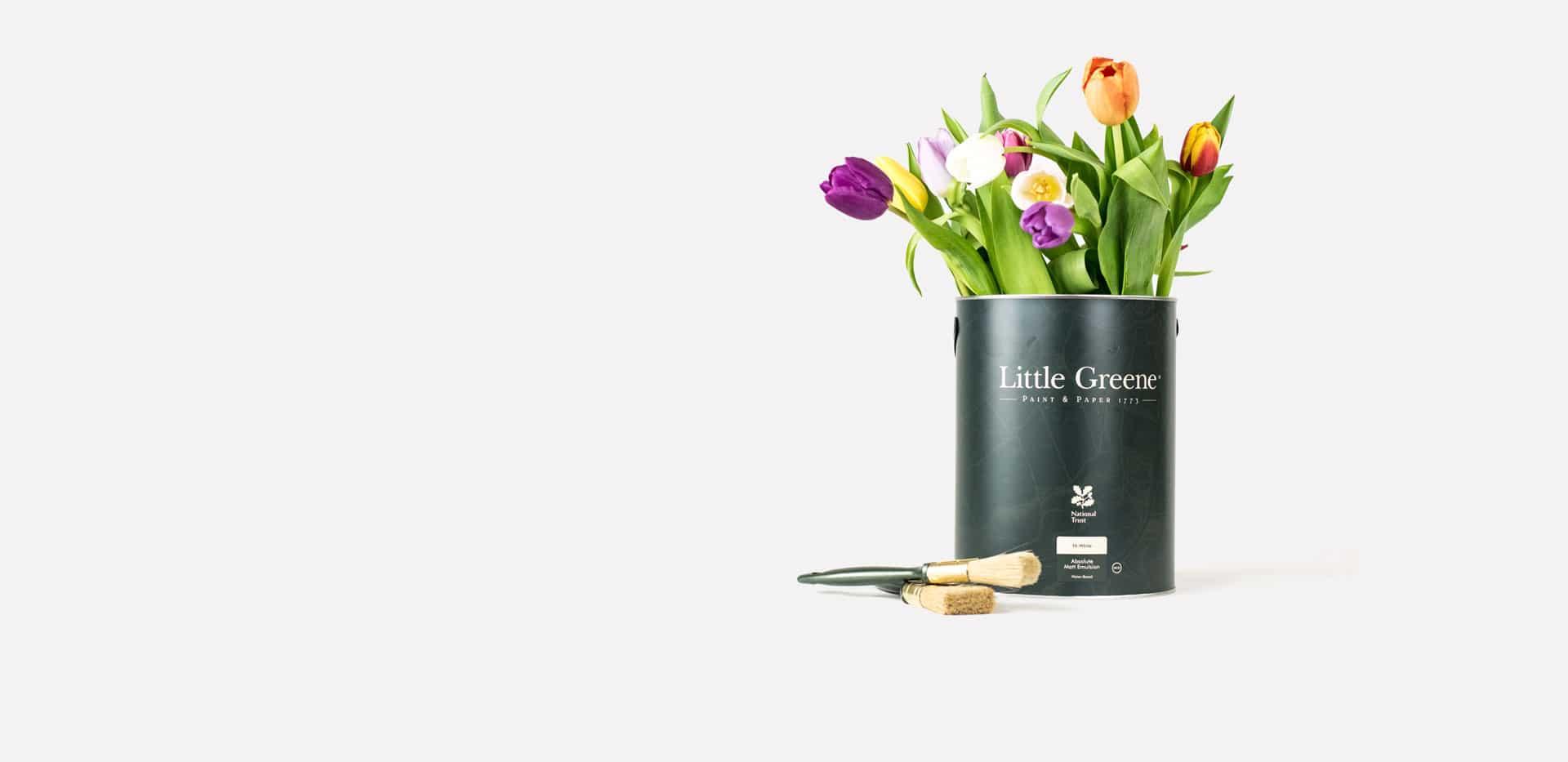 Interior Design online Shop - Wandfarben Little Green Eimer Blumen insel