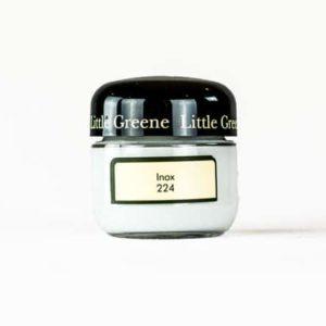 Little Greene Wandfarbe Tester Inox 224 hellgrau