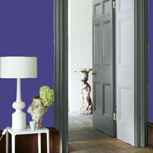Little Greene Wandfarbe Mambo 112 Wohnung Wohnungsbeispiel Wand Farbe Blau