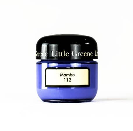 Little Greene Wandfarbe Tester Mambo 112 Farbe Blau