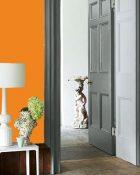 Little Greene Wandfarbe Marigold 209 Wohnung Wohnungsbeispiel Wand Farbe Orange