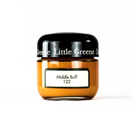 Little Greene Wandfarbe Tester Middle Buff 122 Farbe Orange Dunkel