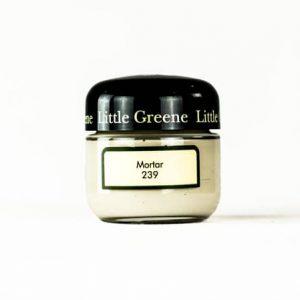 Little Greene Wandfarbe Tester Mortar 239 Farbe grau beige