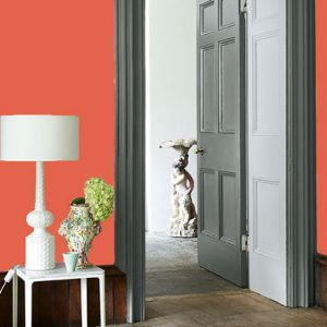 Little Greene Wandfarbe Orange Aurora 21 Wohnungsbeispiel Wand Farbe Orange Rot