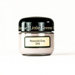 Little Greene Wandfarbe Tester Perennial Grey 245 Farbe Grau Taupe