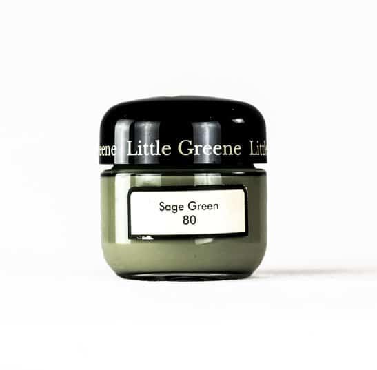 Little Greene Wandfarbe Tester Sage Green 80 Farbe Grün Hell