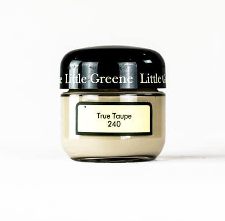 Little Greene Wandfarbe Tester True Taupe 240 grau beige