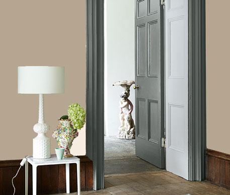 Little Greene Wandfarbe True Taupe 240 Wohnung Wohnungsbeispiel Wand Farbe Grau