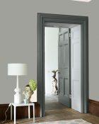 Little Greene Wandfarbe Urbane Grey 225 Wohnungsbeispiel Wand Farbe Grau