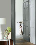 Little Greene Wandfarbe Urbane Grey 225 Wohnung Wohnungsbeispiel Wand Farbe Grau