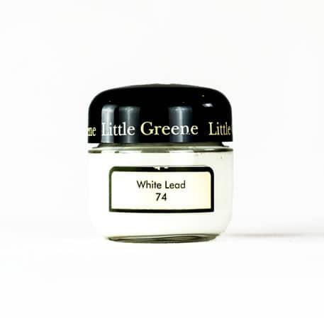 Little Greene Wandfarbe Tester White Lead 7