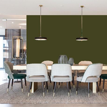 Little Greene Wandfarbe Olive Colour 72 Olivton Wandfarbe Wandfarbe Braun-Grün Wandfarbe Gelb Grün