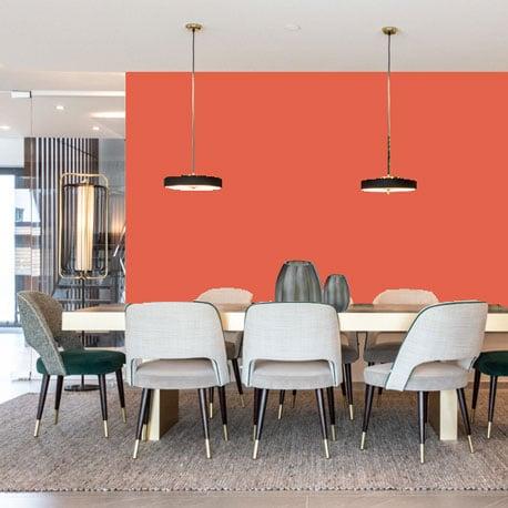 Little Greene Wandfarbe Orange Aurora 21 Orange Aurora Orange Wandfarbe Orange-Rot Wandfarbe
