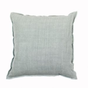 Designers Guild Kissen Brera Lino Grau-Mint Grau Leinen Basiskissen Cushion