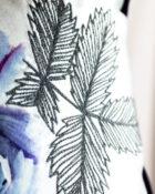 Designers Guild Kissen Camille Viola Lila Keder lila Stickerei