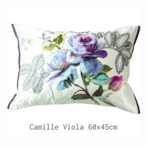 Designers Guild Kissen Camille Viola Lila Muster Floral Seide