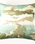Designers Guild Kissen Dragonfly Blau-Türkis Libelle Blau Insekt Wolken Dekokissen