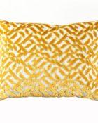 Designers Guild Kissen Dufrene Saffron Kissen Gelb Muster geometrisch