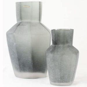 Guaxs Vase Kahulu Medium Grau Deko Grey Silbergrau Handgefertigt