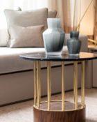 Guaxs Vase Kahulu Medium Grau Grau Tisch Gold Sofa Deko