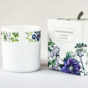 Designers Guild Duftkerze Alexandria Flieder & Lavendel frontal