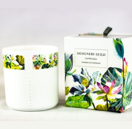 ✓Exklusive Duftöle ✓ Langanhaltendes Aroma ✓Hochwertige Duftkerzen im Glas von Designers Guild Kerze Duft Candle Blumen Pflanzen