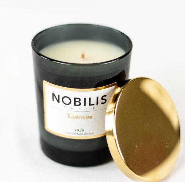 Nobilis Duftkerze Tubereuse Imperiale Moschus & Sandelholz Kerze Duft Candle Schwarz Gold