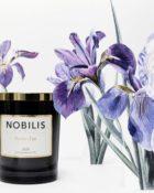 Nobilis Duftkerze Poudre d'Iris Iris-Puder & Veilchen Kerze Duft Candle Schwarz Gold Blumen