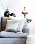 Kissen Gold Sofa Wohnung Lampe
