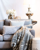 Kissen Vasen Wohnung Lampe Sofa