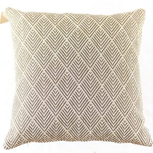 HOATÉ Outdoor-Kissen Balian Natur Cushion Quadrat Muster Beige Braun