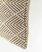 HOATÉ Outdoor-Kissen Balian Natur Cushion Muster Braun Beige Schild