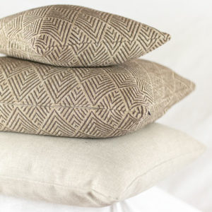 Cushion Quadrat Muster Beige Braun