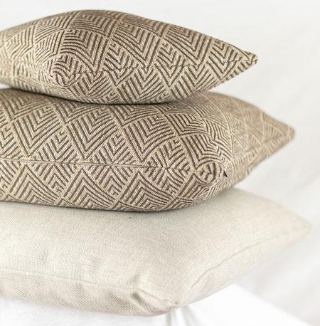 Cushion Quadrat Muster Beige Braun
