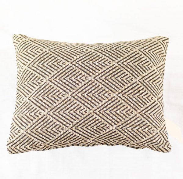 HOATÉ Outdoor-Kissen Balian Natur Cushion Rechteck Muster Beige Braun