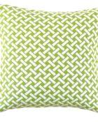 Hoaté Outdoor-Kissen Portico Kiwi Grün Kiwi Grün Muster Weiß Quadrat