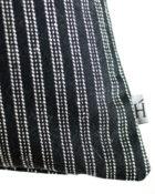 HOATÉ Kissen Bowery Stripe Schwarz Streifen Basiskissen Neutral