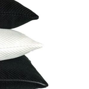 Kissen Struktur Schwarz Weiß Beige