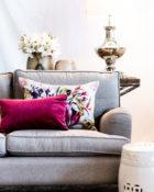 Pink Blumen Sofa Wohnung Vasen