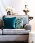 Kissen Sofa Wohnung Vasen Schmetterling