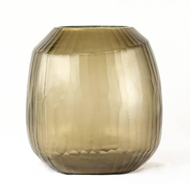 Guaxs Vase Malia Large Taupe Smokegrey