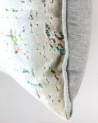 Designers Guild Kissen Montmartre Zinc Grau-Pastell Rechteck Regenbogenfarben Muster Samt