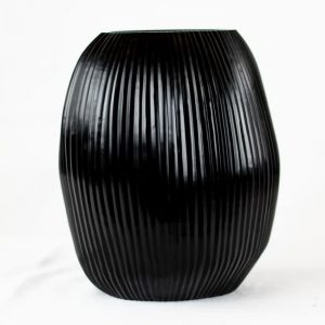 Guaxs Vase Nagaa Large Schwarz