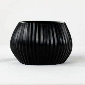 Guaxs Teelichthalter Nagaa Schwarz Windlicht Kerze Deko Tealight