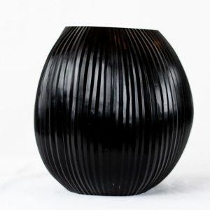 Guaxs Vase Nagaa Medium Schwarz