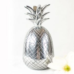 Richmond Deko-Figur Ananas Silber Deko Dekoration Frucht Aufbewahrung Blume