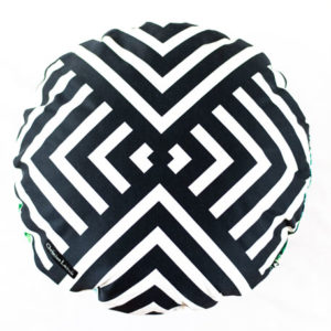 Designers Guild Kissen Reveries Vert Buis Schwarz-Weiss Geometrisch muster