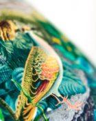 Designers Guild Kissen Reveries Vert Buis Schwarz-Weiss Stickerei detail